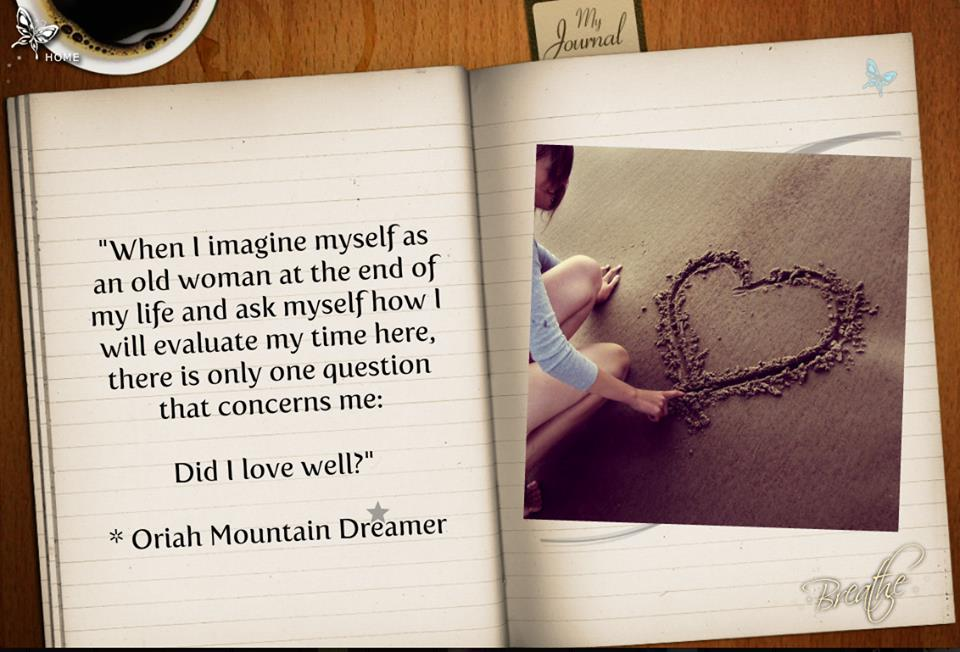Poem By Oriah Mountain Dreamer Ralphie S Portal