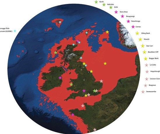 A Greater Britain: How the North Sea grew and the land-mass shrunk